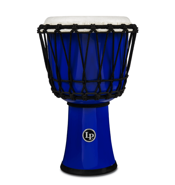 """LP1607BL - 7"""" Rope Tuned Circle Djembe - Blue"""