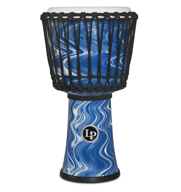 LP2010-BM - LP® 10-inch Rope Tuned Circle Djembe with Perfect-Pitch head - Blue Marble