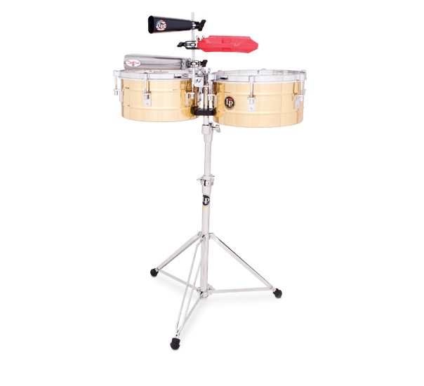"""LP255B - LP® Tito Puente  12"""" and 13"""" Timbales - Brass"""