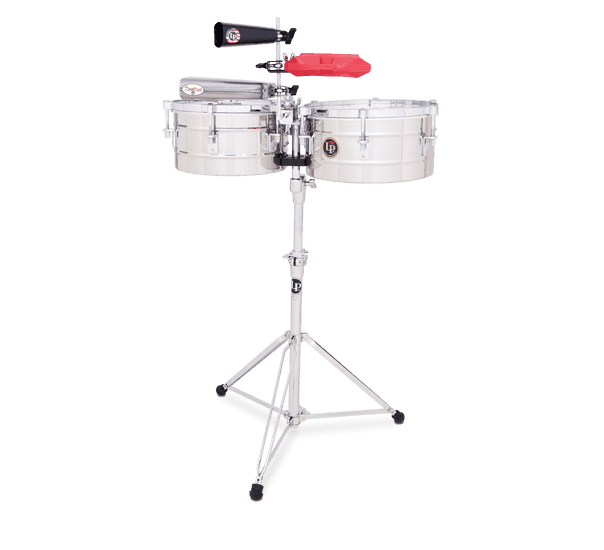 """LP255S - LP® Tito Puente  12"""" and 13"""" Timbales - Stainless Steel"""