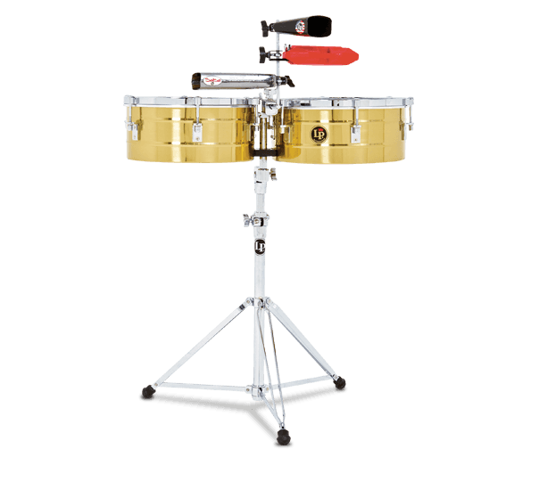 """LP256B - LP® Tito Puente  13"""" and 14"""" Timbales - Brass"""