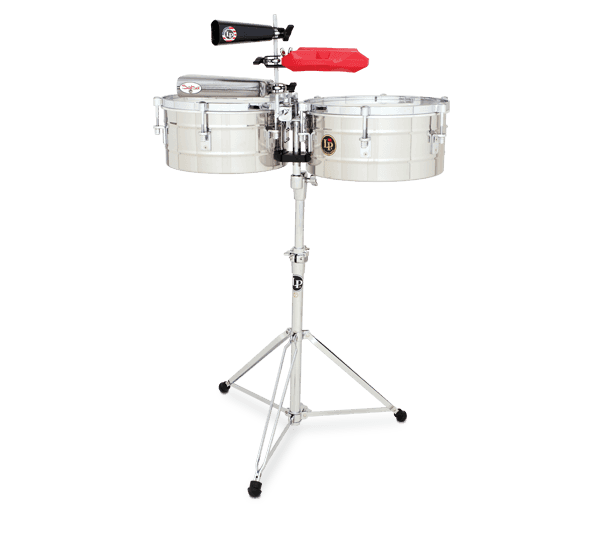 """LP256S - LP® Tito Puente  13"""" and 14"""" Timbales - Stainless Steel"""