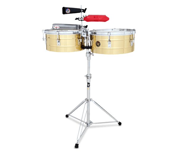 """LP257-B - LP® Tito Puente  14"""" and 15"""" Timbales - Brass"""