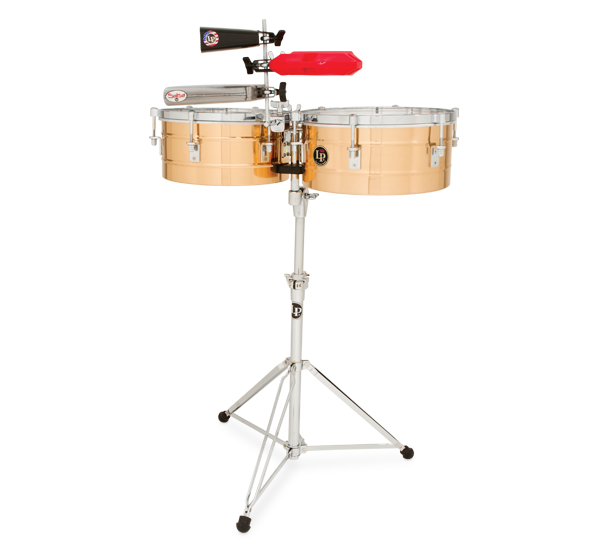 """LP257-BZ - LP® Tito Puente  14"""" and 15"""" Timbales - Bronze"""