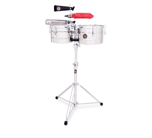 """LP272S - LP® Tito Puente  9-1/4"""" and 10-1/4"""" Timbalitos - Stainless Steel"""